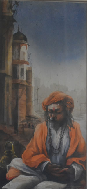 Artist: Suidp Roy<br> Medium: Water Coulor On Paper<br> Size:22 x10 Inches