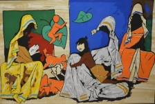 Artist: M F. Husain<br> Medium: Serigraph<br> Size: 30 x 46 Inches