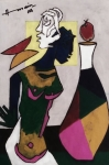 Artist: M F. Husain<br> Medium: Print<br> Size: 14.5 x 21.5Inches