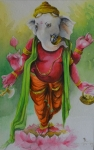 Artist: Sudip Roy<br> Medium: Water Colour on Paper<br> Size: 22x15  Inches