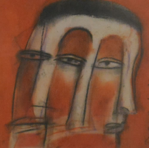 Artist: Tapan Das<br> Medium: Mix Media on Paper<br> Size: 11 Inches