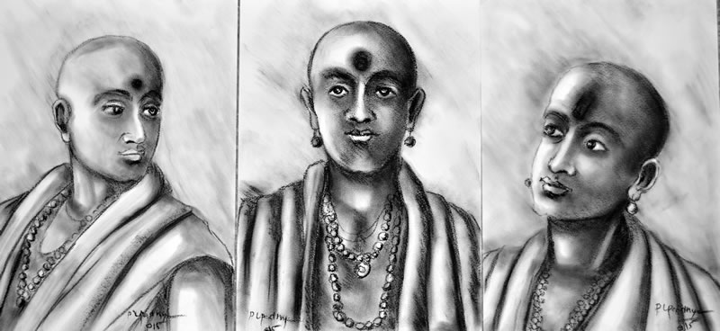 Artist: Praveen Upadhye<br> Titel : Dal Punj-set of-3<br> Medium: Drawing<br> Size: 16 x 12 Inches<br> Year : 2015