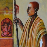 Artist: Praveen Upadhye<br> Titel : Dal Punj -<br> Medium: Acrylic on Canvas<br> Size: 24 x 24 Inches<br> Year : 2015