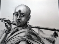 Artist: Praveen Upadhye<br> Titel : Dal Punj<br> Medium: Drawing-1<br> Size: 28 x 19 Inches<br> Year : 2015