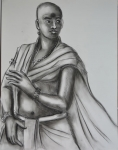 Artist: Praveen Upadhye<br> Titel : Dal Punj<br> Medium: Drawing-4<br> Size: 28 x 19 Inches<br> Year : 2015