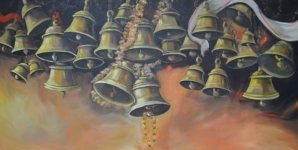 Artist: Praveen Upadhye<br> Titel : Dal Punj -<br> Medium: Acrylic on Canvas<br> Size: 36 x 60 Inches<br> Year : 2015