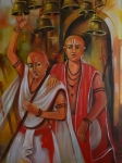 Artist: Praveen Upadhye<br> Titel : Dal Punj -<br> Medium: Acrylic on Canvas<br> Size: 48 x 36 Inches<br> Year : 2015