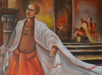 Artist: Praveen Upadhye<br> Titel : Dal Punj -7<br> Medium: Acrylic on Canvas<br> Size: 30 x 60 Inches<br> Year : 2015