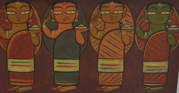 Artist: Jamini Roy<br> Size: 15 x 27.5 Inches
