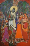 Artist: Dheeraj Chaudhary<br> Medium: Acrylic on Canvas<br> Size: 60 x4 0Inches
