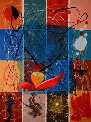 Artist: Babli Das<br> Titel : Untitled<br> Medium: Acrylic  on Canvas<br> Size: 48 x 36 Inches
