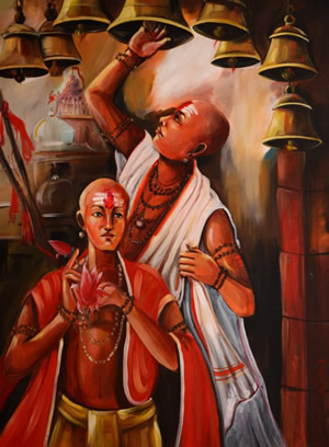 Artist: Praveen Upadhye<br> Titel : Dal Punj<br> Medium: Acrylic on Canvas<br> Size: 48 x 36 Inches<br> Year : 2015